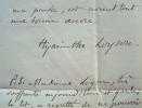 Le père Hyacinthe Loyson prépare une conférence à Alger.. Charles dit père Hyacinthe Loyson (1827-1912) Prédicateur.
