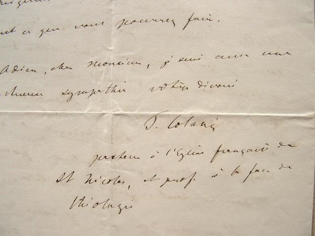 L'inquiétude du pasteur Colani.. Timothée Colani (1824-1888) Pasteur, professeur à la faculté de théologie de Strasbourg.