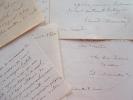 12 lettres du vaudevilliste Edouard Monnais.. Edouard Monnais (1798-1868) Vaudevilliste et critique théâtral, directeur de l'opéra puis commissaire ...