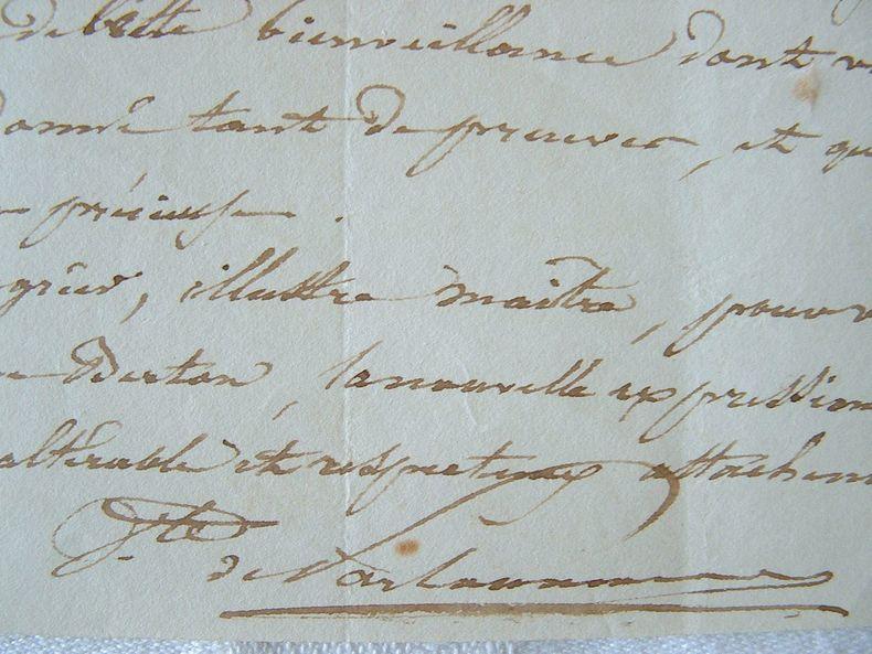 Belle lettre d'un librettiste à Henri-Montan Berton..