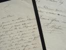 Jules Brasseur écrit à Carmier.. Jules Brasseur (1829-1890) Acteur de théâtre. Fondateur du théâtre des Variétés.