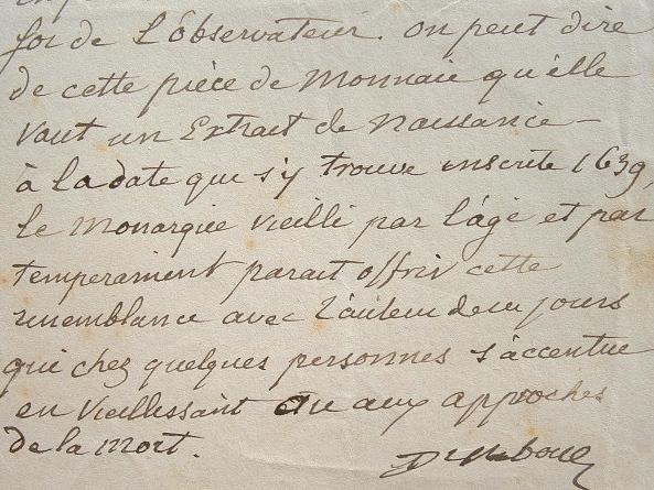Découverte en Algérie d'une monnaie de Louis XIII.. Anatole Chabouillet (1814-1899) Nusmimate, auteur du Catalogue des monnaies gauloises de la ...