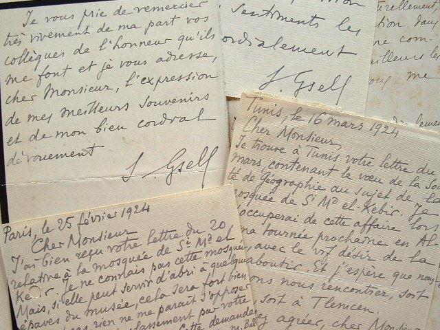 Correspondance de l'archéologue Stéphane Gsell.. Stéphane Gsell (1861-1932) Archéologue, membre de l'Ecole française de Rome, il exécute de ...