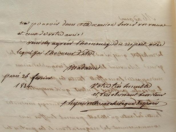 L'archevêque de Paris, Mgr Quélen, refuse une demande.. Hyacinthe Louis Quélen (comte de) (1778-1839) Archevêque de Paris, membre de l'Académie ...