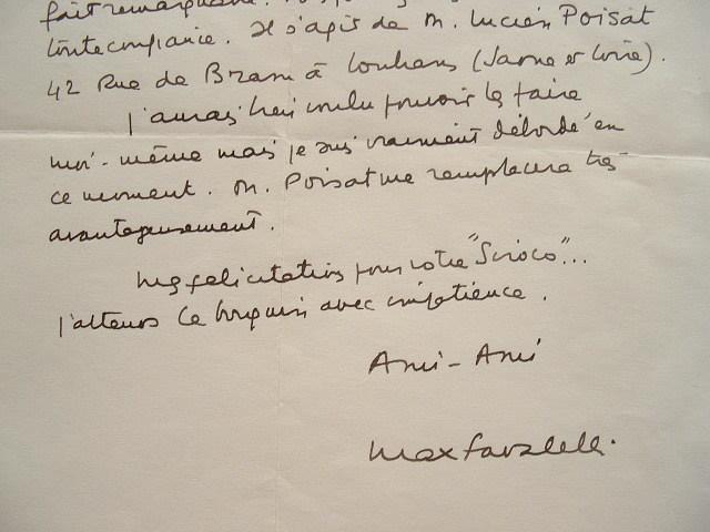 Max Favalelli recommande un autre cruciverbiste.. Max Favalelli (1905-1989) Journaliste, cruciverbiste.