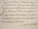 Le maréchal de Belle-Isle dénonce l'état de la maréchaussée de Provence.. Charles Louis Auguste Belle-Isle (Fouquet, duc de) (1684-1761) Maréchal, ...