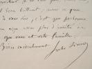 Jules Simon marie son fils.. Jules Simon (1814-1896) Homme politique et philosophe. Membre de l'Académie française (1875).
