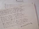 """""""Fraternité"""", l'hymne aux travailleurs d'Armand Silvestre.. Armand Silvestre (1837-1901) Poète parnassien."""