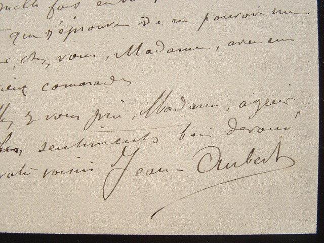 Le peintre Jean Aubert fidèle au souvenir de sa femme.. Jean Ernest Aubert (1824-1906) Peintre, graveur et lithographe.