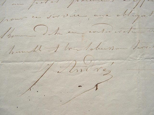 Le peintre Jules André écrit à Chéradame.. Jules Louis Andr? (1867-1869) Peintre paysagiste. Conservateur des dessins au musée du Louvre. Dessinateur ...