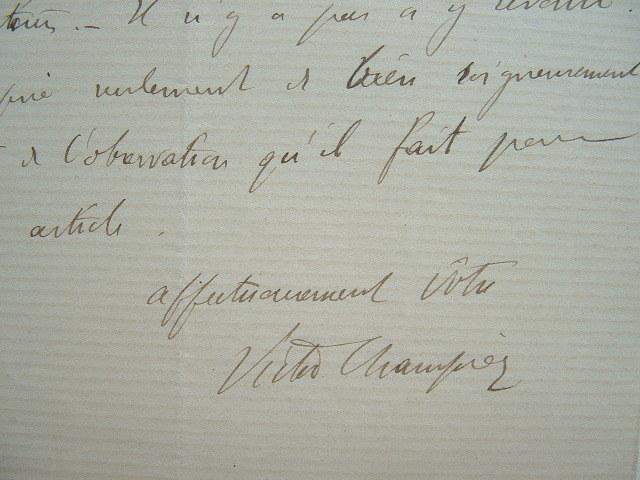 Victor Champier et l'erratum d'Alphonse Karr.. Victor Champier (1851-1929) Secrétaire de Vapereau. Critique d'art. Fondateur de la Revue des Arts ...