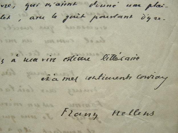 Franz Hellens : «le poète est un homme immodeste».. Franz Hellens (1881-1972) Romancier, poète et essayiste belge, il est l'un des représentants ...