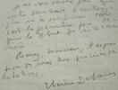 Thérèse Debains signe son premier autographe.. Thérèse Debains (1907-1975) Peintre.