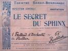 Répétition générale du Secret du Sphinx pour Maurice Rostand.. Maurice Rostand (1891-1968) Poète et dramaturge. Fils d'Edmond et de Rosemonde Gérard.
