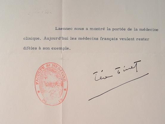 Léon Binet fidèle à l'exemple de Laennec.. Léon Binet (1891-1971) Médecin et physiologiste, de l'Académie des sciences.