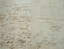 Deux pétitions pour les artistes en difficulté.. Louis Auguste Lapito (1803-1874) Peintre de paysages.Auguste Panseron (1795-1859) Compositeur et ...