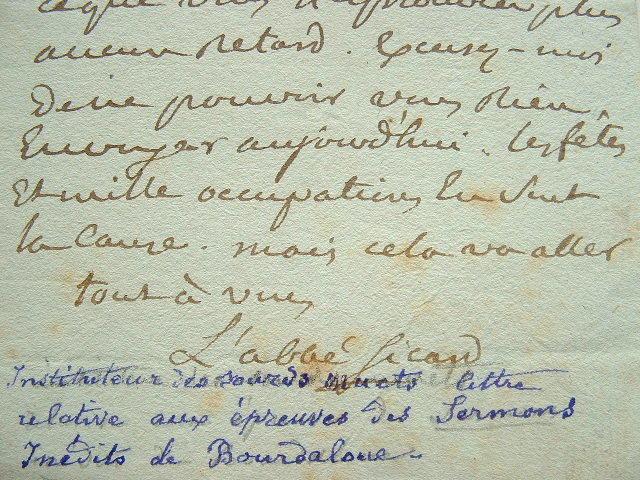 L'abbé Sicard publie des Sermons inédits de Bourdaloue.. Roch Ambroise Sicard, Cucurron, dit l'abb? (1742-1822) Il consacre sa vie aux sourds-muets, ...