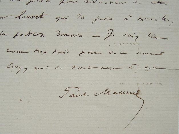 Paul Meurice décline l'écriture de la notice biographique de Vacquerie.. Paul Meurice (1820-1905) Journaliste, il collabore à de nombreuses ...