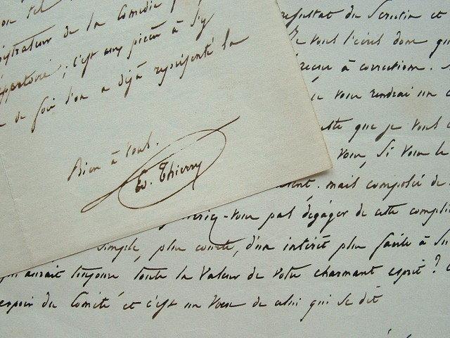 La Comédie Française réfuse la dernière pièce de Gozlan.. Edouard Thierry (1813-1894) Littérateur, bibliothécaire à l'Arsenal, administrateur général ...