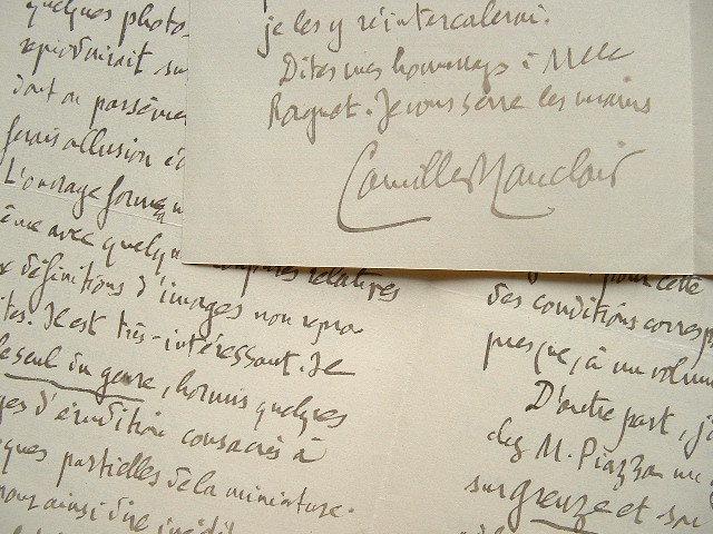 Camille Mauclair met en concurrence ses éditeurs.. Camille Mauclair (1872-1945) Poète, romancier et critique, disciple de Mallarmé.