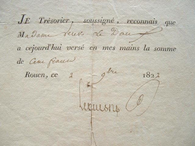 Collecte pour la réparation de la cathédrale de Rouen..
