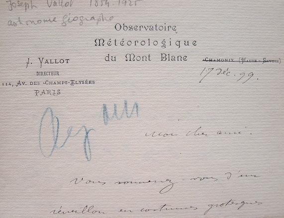 Réveillon costumé pour le glaciologue Joseph Vallot.. Joseph Vallot (1854-1925) Glaciologue, astronome et géographe, il fonde à Chamonix un ...