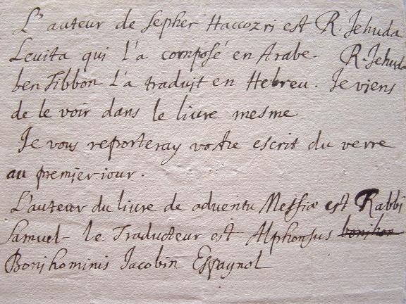 Gabriel Cossart découvre un traducteur Hébreu.. Gabriel Cossart (1615-1674) Jésuite, écrivain, controversiste.