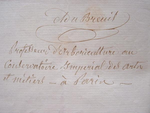 Nouvelle distinction pour le botaniste Alphonse Du Breuil.. Alphonse Du Breuil (1811-1890) Botaniste et jardinier, directeur du jardin botanique de ...