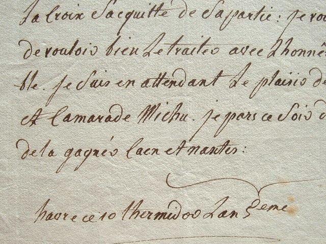 Le comédien Michu recommande un éclairagiste pour le Théâtre Italien.. Louis Michu (1754-1802) Acteur, directeur du théâtre de Rouen, il se suicide ...