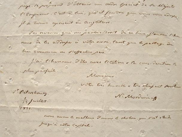 L'amiral Mordwinoff apprend la mort de Jeremy Bentham..