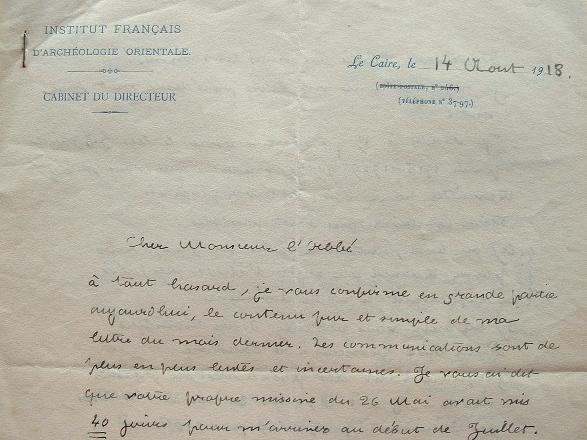 L'Institut français d'archéologie orientale du Caire dans la tourmente.. Georges Foucart (1865-1943) Egyptologue, directeur de l'Institut français ...