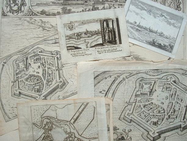 Gravelines aux XVIIe et XVIIIe siècles en 7 plans et vues..