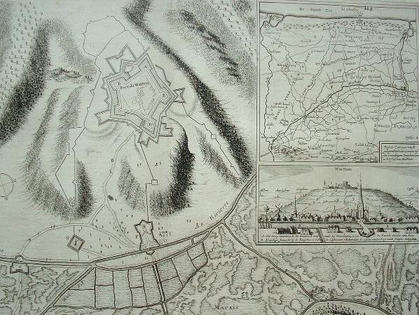 Grande vue du XVIIIe du fort de Watten..