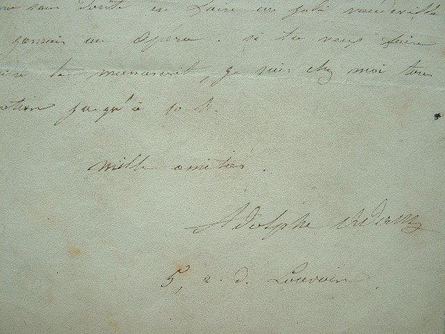 Adolphe Adam refuse un livret d'opéra.. Adolphe Adam (1803-1856) Compositeur, auteur de nombreux opéras, et du ballet Giselle, ouvrage majeur dans ...