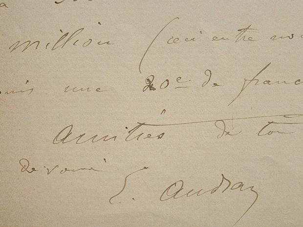 Edmond Audran savoure le succès de son opérette Hélyett.. Edmond Audran (1840-1901) Compositeur d'opérettes.