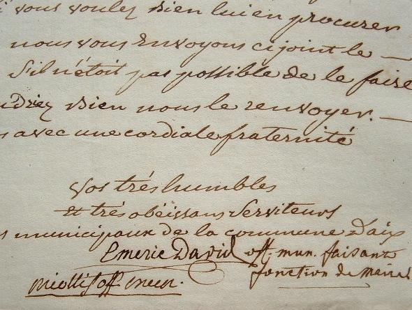 Emeric-David presque maire d'Aix-en-Provence.. Toussaint-Bernard Emeric-David (1755-1839) Historien d'art, archéologue et érudit, maire d'Aix durant ...