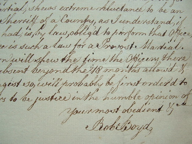 Robert Boyd, le gouverneur de Gibraltar, met les choses au point.. Robert Boyd (1710-1794) Général anglais, gouverneur de Gibraltar (1776-1777, puis ...