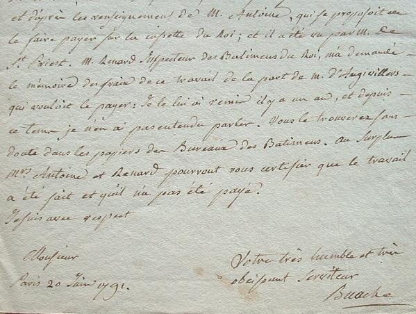 Buache, géographe du roi, réclame sa rétribution.. Jean Nicolas Buache (de La Neuville) (1741-1825) Premier géographe du roi, membre de l'Académie des ...