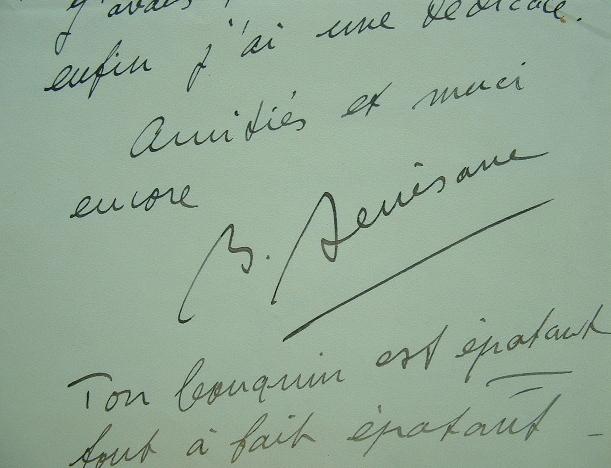 Bernard Denisane, de l'Action Française, épaté..