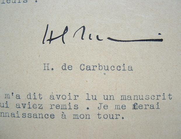 Horace de Carbuccia, fondateur de Gringoire, tronque un article.. Horace Carbuccia (de) (1891-1975) Journaliste et homme politique, fondateur du ...