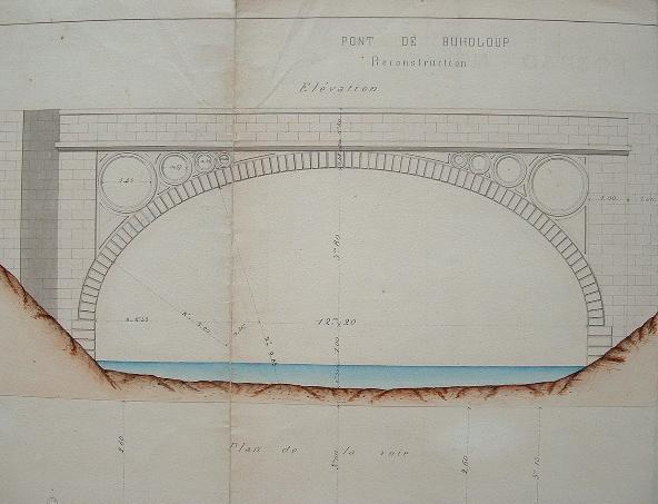 Projet de reconstruction du pont de Buholoup sur le Volp..