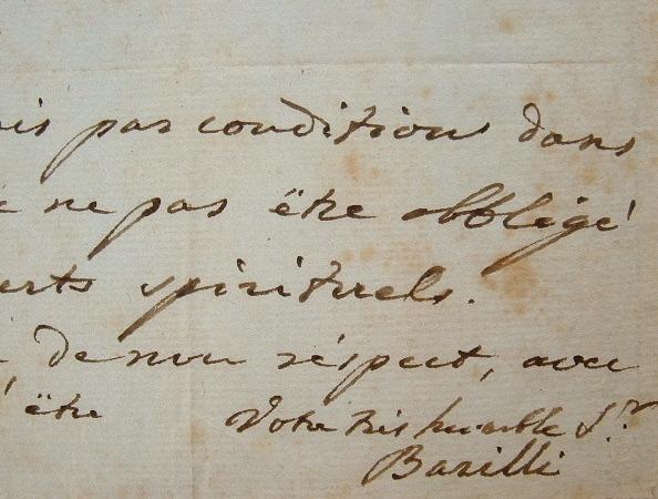 Le chanteur Luigi Barilli engagé à l'Opéra italien.. Luigi Barilli (1767-1824) Chanteur italien, régisseur de l'opéra bouffe à Paris.