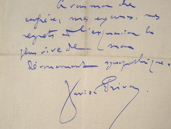 Le chansonnier Xavier Privas solidaire des victimes de l'inondation.. Xavier Privas (1863-1927) Chansonnier de Montmartre.