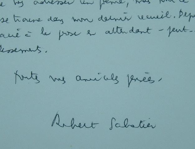 Robert Sabatier abreuvé de poésie.. Robert Sabatier (1923-2012) Poète et écrivain, auteur des Allumettes suédoises.