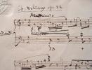 Manuscrit d'une marzurka de Delioux de Savignac.. Charles Delioux de Savignac (1830-1880) Pianiste et compositeur, condisciple d'Halévy.
