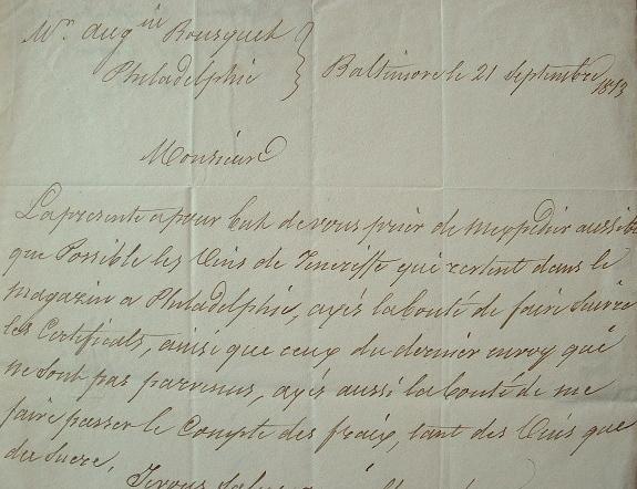 Pierre Auguste Guestier, négociant en vins en Amérique..