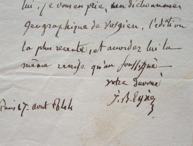 Un dictionnaire géographique Vosgien pour Eyriès.. Jean-Baptiste Benoît Eyriès (1767-1846) Géographe et naturaliste, ami de Jussieu et Cuvier, ...
