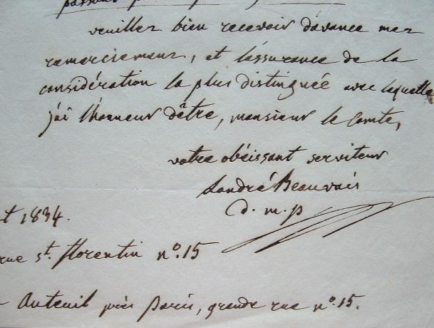 Le clinicien Landré-Beauvais demande une faveur.. Augustin Jacob Landré-Beauvais (1772-1840) Professeur de médecine clinique, collaborateur de Bichat, ...