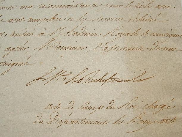 Le Vicomte de La Rouchefoucauld et l'Académie Royale de Musique.. Ambroise-Polycarpe La Rochefoucauld (Vicomte de) (1765-1841) Ministre de la Maison ...