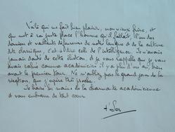 T'Serstevens félicite un nouvel académicien.. Albert T'Serstevens (1885-1974) Ecrivain et poète, grand ami de Blaise Cendrars.